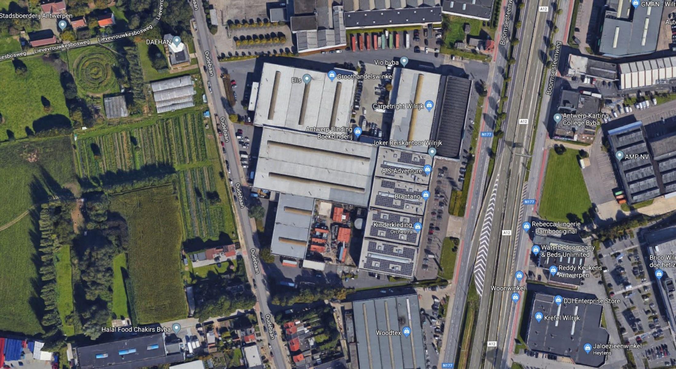 kantoren & magazijn te koop OUDEBAAN 71 WILRIJK Oudebaan 71