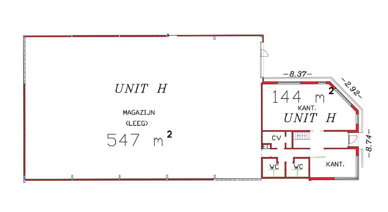 gebouw voor gemengd gebruik te huur UNIT H : MAGAZIJN 547m² MET KANTOOR 288m² - Ingberthoeveweg 3, 2630 Aartselaar, België 8